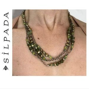 Silpada green pearl jade sterling silver necklace